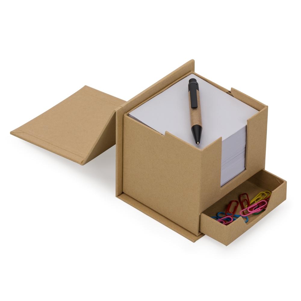 Bloco de Anotações Cubo com Caneta-LB15-45