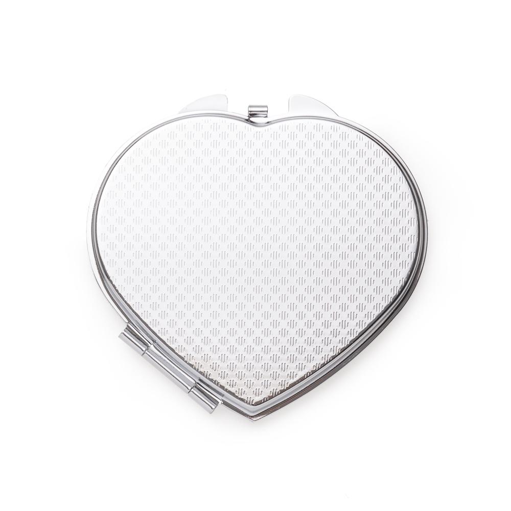 Espelho Metal Duplo Coração com Aumento-LB21-31