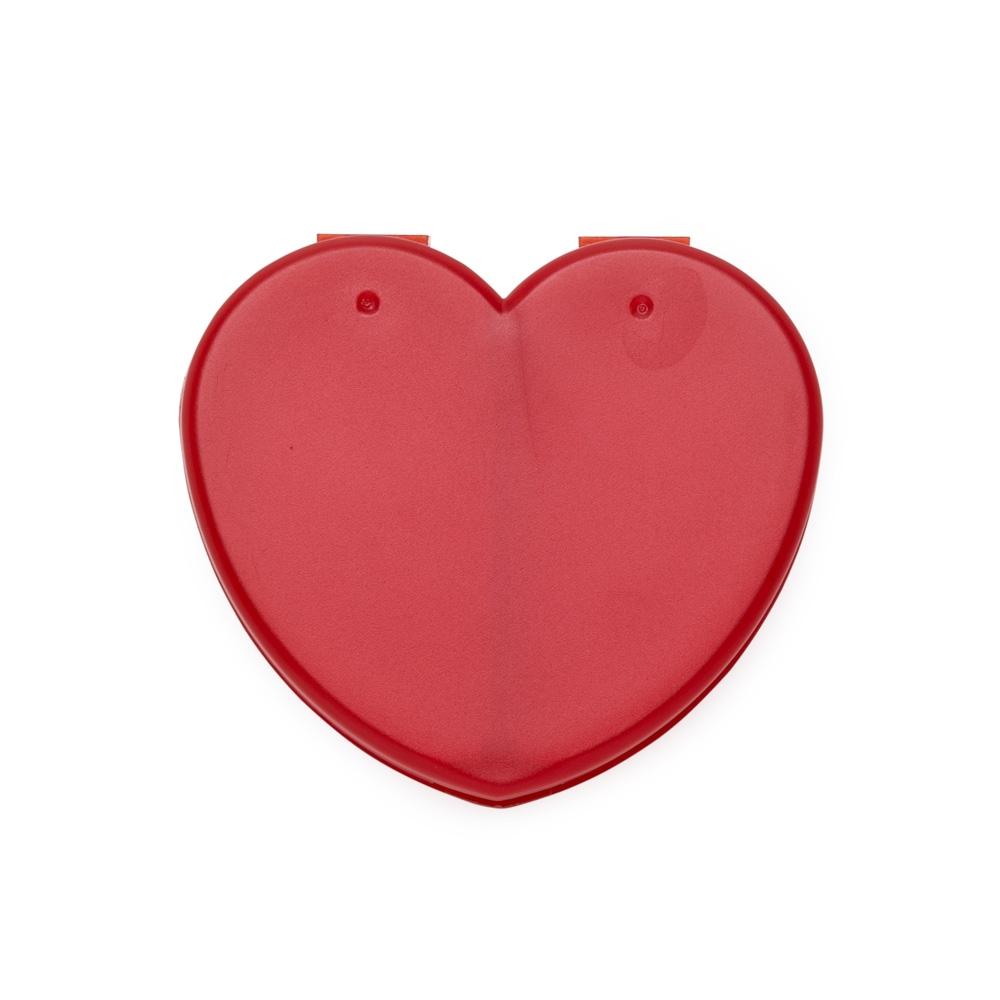 Porta Comprimido Plástico de Coração-LB34-15